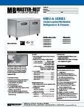 Master-Bilt Products MBUF48A.SpecSheet.pdf