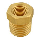 "FMP 117-1027 Brass Reducing Bushing - Hex 3/4"" x 1/2"" NPT"