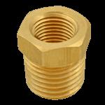 "FMP 117-1028 Brass Reducing Bushing - Hex 3/8"" x 1/4"" NPT"