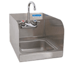 """FMP 117-1387 Hand Sink with Faucet and Spash Guards 10-3/8"""" H x 12"""" W outside dimensions"""
