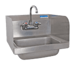 """FMP 117-1388 Hand Sink with Faucet and Splash Guards 15-1/4"""" H x 17"""" W outside dimensions"""