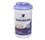 FMP 141-2130 Sani-Hands Hand Wipes by Sani Professional Case of 6 canisters