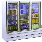 Howard-McCray GF75BM-FF-B 78.00'' 75.0 cu. ft. 3 Section Black Glass Door Merchandiser Freezer