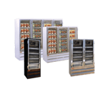 Howard-McCray GF88BM-LED 103.80'' 88.0 cu. ft. 4 Section White Glass Door Merchandiser Freezer