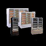 Howard-McCray GF88BM-S-LT 103.75'' 88.0 cu. ft. 4 Section Silver Glass Door Merchandiser Freezer