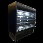 Howard-McCray R-OD35E-12L-B-LED 147.00'' Black Vertical Air Curtain Open Display Merchandiser with 2 Shelves
