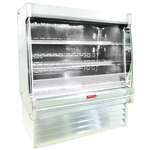 Howard-McCray R-OD35E-12L-S-LED 147.00'' Stainless Steel Vertical Air Curtain Open Display Merchandiser with 2 Shelves