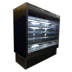 Howard-McCray R-OD35E-8-B-LED 99.00'' Black Vertical Air Curtain Open Display Merchandiser with 4 Shelves