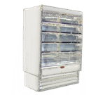 Howard-McCray R-OD35E-8-LED 99.00'' White Vertical Air Curtain Open Display Merchandiser with 4 Shelves