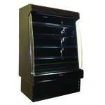 Howard-McCray R-OD35E-8S-B-LED 99.00'' Black Vertical Air Curtain Open Display Merchandiser with 4 Shelves
