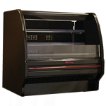 Howard-McCray R-OD40E-4L-B-LED 51.00'' Black Horizontal Air Curtain Open Display Merchandiser with 2 Shelves