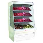 Howard-McCray R-OM30E-10-LED 123.00'' White Vertical Air Curtain Open Display Merchandiser with 3 Shelves