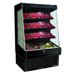 Howard-McCray R-OM30E-4-B-LED 51.00'' Black Vertical Air Curtain Open Display Merchandiser with 3 Shelves