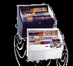 Howard-McCray R-OS30E-6C-B-LED 75.00'' Black Horizontal Air Curtain Open Display Merchandiser with 3 Shelves