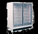 Howard-McCray RIF2-30-LED 68.00'' 153.0 cu. ft. 2 Section White Glass Door Merchandiser Freezer