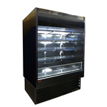 Howard-McCray SC-OD35E-48-B-LED 48'' Black Vertical Air Curtain Open Display Merchandiser with 4 Shelves