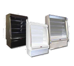 Howard-McCray SC-OD35E-4S-LED 51.00'' White Vertical Air Curtain Open Display Merchandiser with 4 Shelves