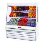 Howard-McCray SC-OM30E-6L-S-LED 75.00'' Stainless Steel Vertical Air Curtain Open Display Merchandiser with 2 Shelves