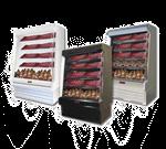 Howard-McCray SC-OM35E-3S-S-LED 39.00'' Stainless Steel Vertical Air Curtain Open Display Merchandiser with 4 Shelves