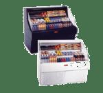 Howard-McCray SC-OS30E-3C-B 39.00'' Black Horizontal Air Curtain Open Display Merchandiser with 3 Shelves