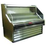 Howard-McCray SC-OS30E-5-S-LED 63.00'' Stainless Steel Horizontal Air Curtain Open Display Merchandiser with 3 Shelves