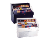 Howard-McCray SC-OS30E-6C-B-LED 75.00'' Black Horizontal Air Curtain Open Display Merchandiser with 3 Shelves