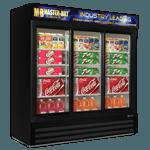 """MBGRP74-SL Fusion Plus"""" Glass Door Refrigerator Merchandiser"""