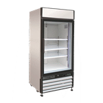 Maxx Cold MXM1-12R 25.00'' White 1 Section Swing Refrigerated Glass Door Merchandiser