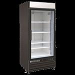 Maxx Cold MXM1-12RB 25.00'' Black 1 Section Swing Refrigerated Glass Door Merchandiser
