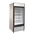 Maxx Cold MXM1-16R 25.00'' White 1 Section Swing Refrigerated Glass Door Merchandiser