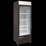 Maxx Cold MXM1-23RB 27.00'' Black 1 Section Swing Refrigerated Glass Door Merchandiser