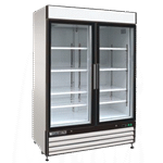 Maxx Cold MXM2-48F 54.00'' 48.0 cu.ft. 2 Section White Glass Door Merchandiser Freezer