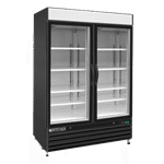 Maxx Cold MXM2-48RB 54.00'' Black 2 Section Swing Refrigerated Glass Door Merchandiser