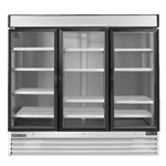 Maxx Cold MXM3-72F 81.00'' 72.0 cu. ft. 3 Section White Glass Door Merchandiser Freezer