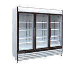 Maxx Cold MXM3-72R 81.00'' White 3 Section Swing Refrigerated Glass Door Merchandiser