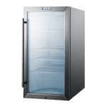 Summit Commercial SCR486LBICSS 19.00'' Silver 1 Section Swing Refrigerated Glass Door Merchandiser