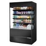 True TOAM-48GS-HC~NSL01 48.00'' Black Vertical Air Curtain Open Display Merchandiser with 4 Shelves