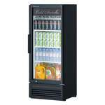 Turbo Air TGM-12SD-N6 25.75'' Black 1 Section Swing Refrigerated Glass Door Merchandiser