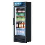 Turbo Air TGM-15SD-N6 26.38'' Black 1 Section Swing Refrigerated Glass Door Merchandiser